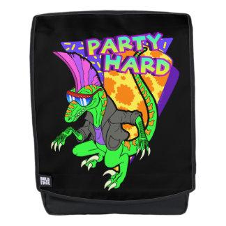 Party Hard Dinosaur Raptor 3 Tanzen Backpack