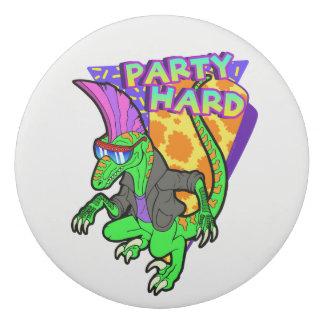 Party Hard Dinosaur Raptor 3 Tanzen Eraser