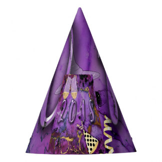 Party Hat 2018 New Years Eve Purple faux gold