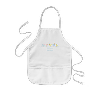 Party hat birds girl's cooking apron