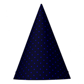 Party Hat Dark Blue with Royal Blue Dots