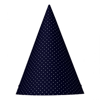Party Hat Dark Blue with White Dots