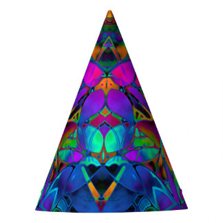Party Hat Floral Fractal Art