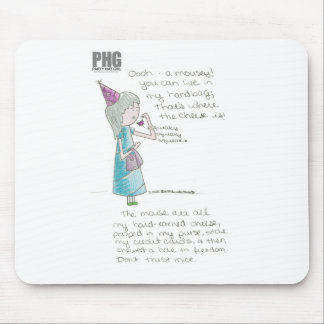 Party Hat Girl--Mousey Mouse Pad