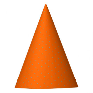 Party Hat Orange with Golden Dots