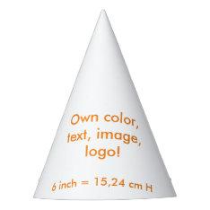 Party Hat Uni White ~ Own Color at Zazzle