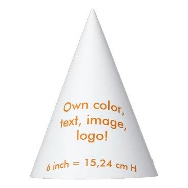 Oranjeshop Party Hat uni White ~ Own Color