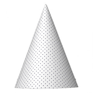 Party Hat White with Dark Blue Dots