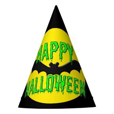 "Halloween Themed Party Hats - Batty ""Happy Halloween"""
