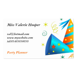 Party Hats Business Card Templates