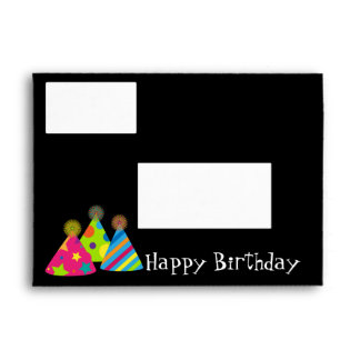 Party Hats Greeting Card Envelope