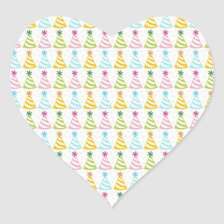 Party Hats Rainbow Pastel Birthday Celebration Hat Heart Sticker