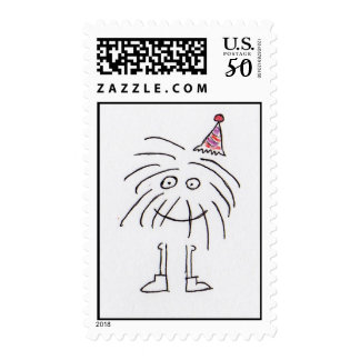 Party-Hatted Monster Postage