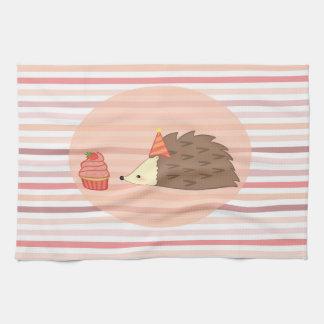 Party Hedgehog and Cupcake Hand Towel