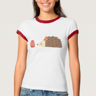 Party Hedgehog and Cupcake Tee Shirt