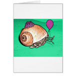 Party Hermit Crab Design Greeting Card