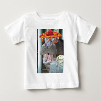 Party Hippo chow time Baby T-Shirt