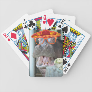 Party Hippo chow time Bicycle Playing Cards