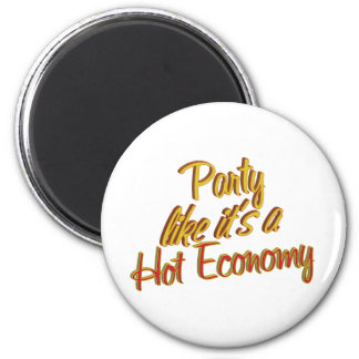 Party Hot Economy 2 Inch Round Magnet