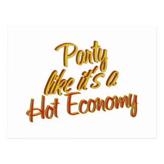 Party Hot Economy Postcard