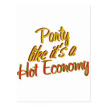 Party Hot Economy Postcard