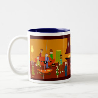 Party House Deluxe Mug! Two-Tone Coffee Mug