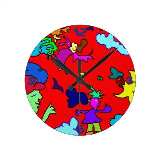 party hype - Wanduhr Reloj Redondo Mediano