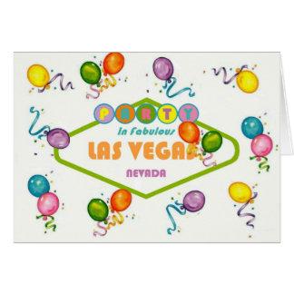 Party in Fabulous Las Vegas Card