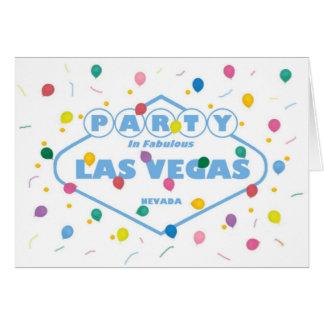 PARTY IN FABULOUS LAS VEGAS CARD & BALLOONS!