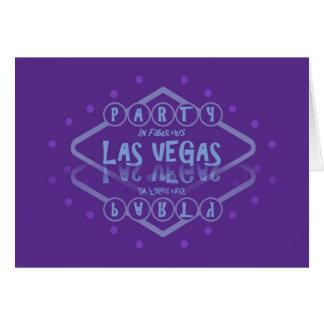 PARTY In Fabulous Las Vegas Card DOUBLE VISION