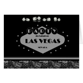 PARTY In Fabulous Las Vegas Card with Dice!