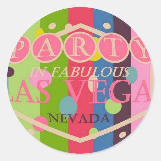 PARTY In Fabulous Las Vegas Colorful Sticker