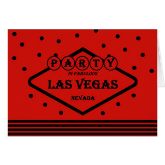 PARTY In Fabulous Las Vegas Red/Black Card