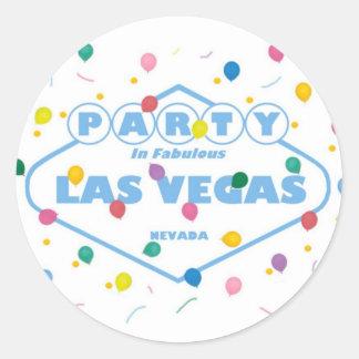 PARTY IN FABULOUS LAS VEGAS STICKER & BALLOONS!