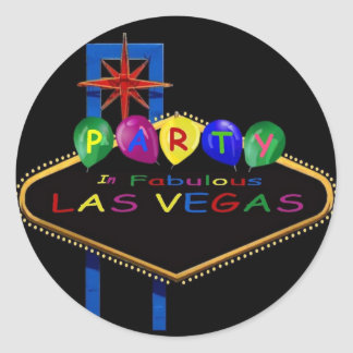 Party In Fabulous Las Vegas with Balloons Stickers