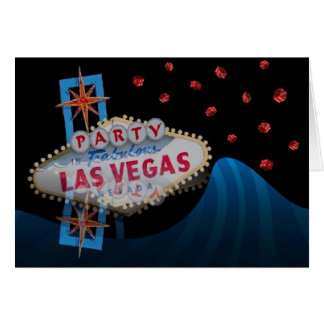 Party In Las Vegas - red dice double vision card