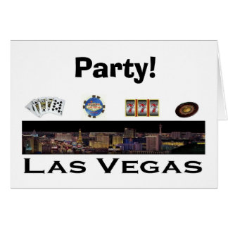 Party in Las Vegas! RSVP card