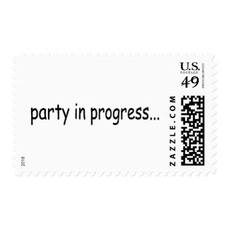 Party In Progress Postage Stamp