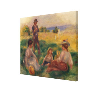 Party in the Country at Berneval, 1898 Canvas Print
