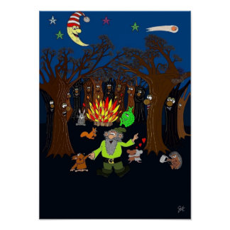 Party in the Magic Tree Wood Poster