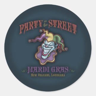 Party in the Street Round Sticker