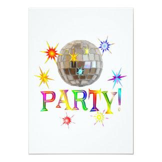 "Party! 5"" X 7"" Invitation Card"