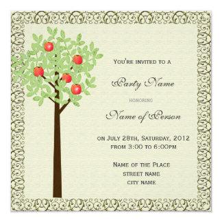 Party invitation, apple tree card