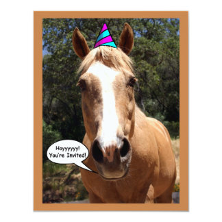 "Party Invitation - ""Bess the Party Horse"""