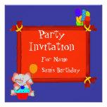 Party Invitation Birthday Boys Girls Children Personalized Invitation
