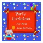 Party Invitation Birthday Boys Girls Children Invite