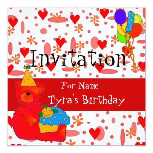 Party Invitation Birthday Girls Children