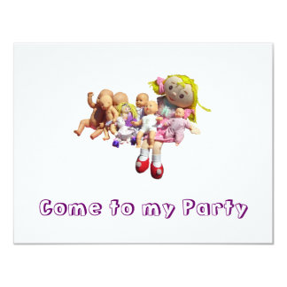 Party Invitation - Blank Inside - Dollies in a Row