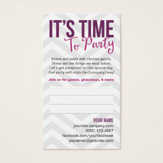 Party Invitation Business Cards