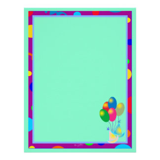 PARTY INVITATION CARTOON  Letterhead Linen 2